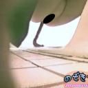 お祭り会場の和式トイレ局部映像
