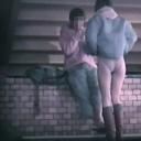 素人 階段下のラブラブベンチ 4