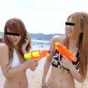 小宮美雪松戸りえ ベストフレンドと浜辺で4P