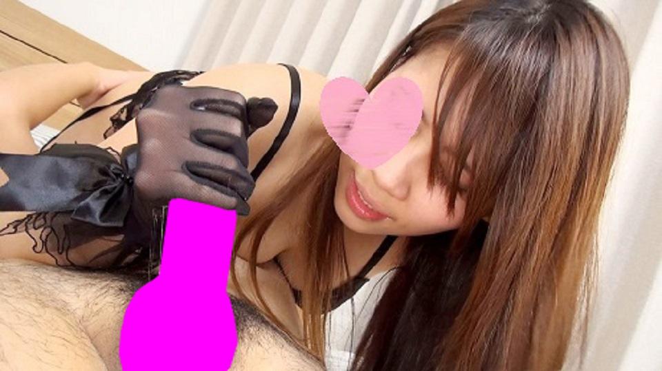 【Rちゃん】【個人撮影】ハーフ美女 Rちゃん Fカップ サテン手袋顔騎・尻コキ責め映像【無修正】