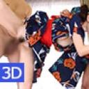 「3D」和服で粋な美マンのかおり~Two