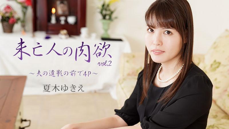 未亡人の肉欲Vol.2〜夫の遺影の前で4P〜:Heyzo